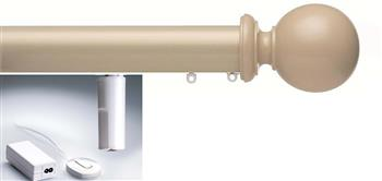 Silent Gliss Electric Metropole 50mm 6150, 5190 Motor, Taupe Ball Finial