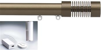 Silent Gliss Electric Metropole 50mm 6150, 5190 Motor,Ant Bronze Groove Cylinder