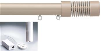 Silent Gliss Electric Metropole 50mm 6150, 5190 Motor, Taupe Groove Cylinder