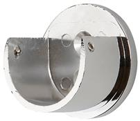 Galleria 35mm Curtain Pole Recess Bracket, Chrome