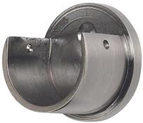 Galleria 35mm Curtain Pole Recess Bracket, Brushed Silver