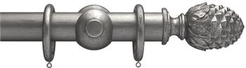 Advent 47mm Curtain Pole Pewter Pineapple