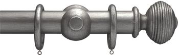 Advent 47mm Curtain Pole Pewter Reeded Ball