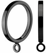Integra Inspired Kubus 28mm Square Cut Curtain Pole Rings, Black Nickel