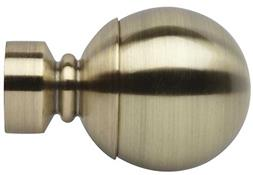 Neo 28mm Ball Finial Only, Spun Brass