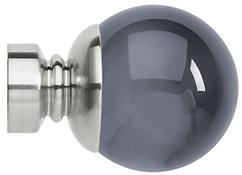 Neo Premium 28mm Smoke Grey Ball Finial Only, Stainless Steel