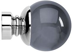 Neo Premium 28mm Smoke Grey Ball Finial Only, Chrome