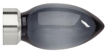Neo Premium 28mm Smoke Grey Teardrop Finial Only, Stainless Steel
