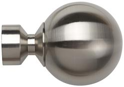 Speedy Poles Apart 28mm Finials only, Satin Silver, Sphere