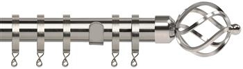 Speedy Poles Apart 28mm Curtain Pole, Standard, Satin Silver, Cage