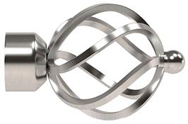 Speedy Poles Apart 28mm Finials only, Satin Silver, Cage