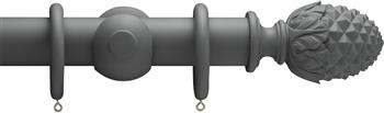Advent 47mm Curtain Pole Midnight Grey Pineapple