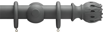 Advent 47mm Curtain Pole Midnight Grey Waterlily