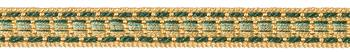 JLS Upholstery Classic Braid Trimming, Green Gold