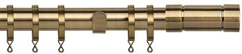 Speedy Poles Apart 28mm Curtain Pole, Standard, Antique Brass, Aspect