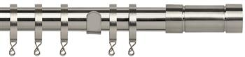 Speedy Poles Apart 28mm Curtain Pole, Standard, Satin Silver, Aspect