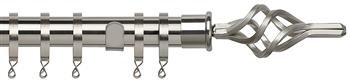Speedy Poles Apart 28mm Curtain Pole, Standard, Satin Silver, Piazza