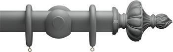Advent 47mm Curtain Pole Midnight Grey Ornamental Urn