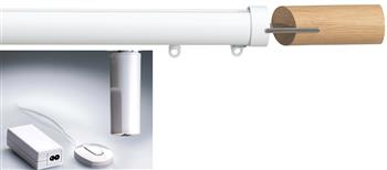 Silent Gliss Electric Metropole 50mm 6150, 5190 Motor, White Fused Barrel Oak