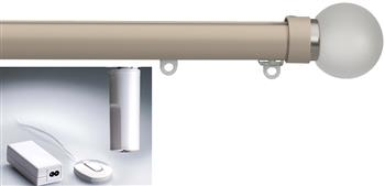 Silent Gliss Electric Metropole 50mm 6150, 5190 Motor, Taupe Frosted Glass Ball