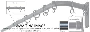 Cameron Fuller 19mm Metal French Pole, Chrome