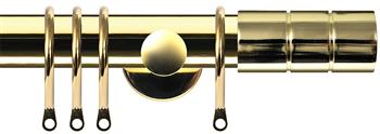 Renaissance Dimensions 28mm Contemporary Pole Polished Brass, Cylinder