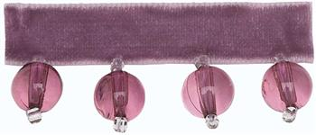 Hallis B`dazzle Trimming, Small Beads Mauve