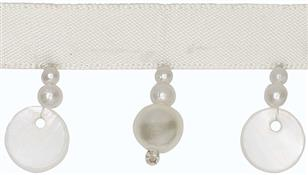 Hallis B`dazzle Trimming, Pearls & Shells Clear