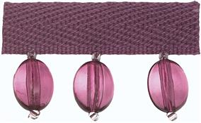 Hallis B`dazzle Trimming, Oval Beads Mauve