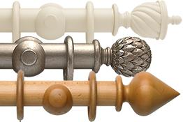 Extra Long Wood Curtain Poles