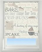 Universal Patterned Blackout Roller Blind, Bake Off Neutral