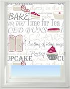 Universal Patterned Blackout Roller Blind, Bake Off Red