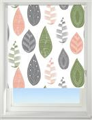 Universal Patterned Blackout Roller Blind, Leaf Multicoloured