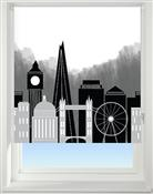 Universal Patterned Blackout Roller Blind, London Skyline
