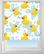 Universal Patterned Blackout Roller Blind, Quack Quack
