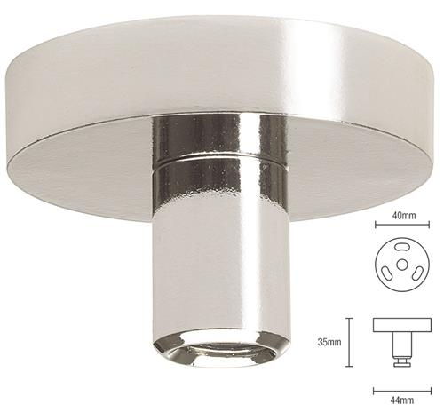 Silent Gliss Ceiling Fix Bracket 0335 in Chrome