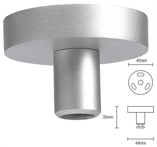 Silent Gliss Ceiling Fix Bracket 0335 in Silver