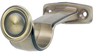 Galleria 50mm Curtain Pole Centre Support Bracket, Burnished Brass