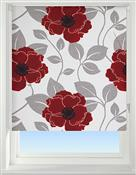 Universal Patterned Blackout Roller Blind, Papavero