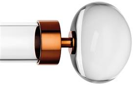 Byron & Byron Halo, 55mm Acrylic Curtain Pole, Metal Rings, Copper Orion