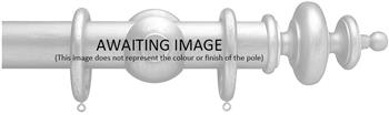 Advent 35mm Metallic Painted Wood Curtain Pole, Distressed Gold, Classic Turned