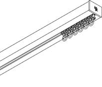 Silent Gliss 6970 Hand Drawn Silent Curtain Track, Anodised Silver