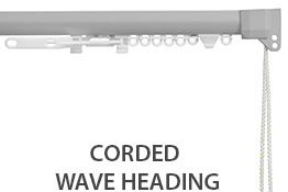 Silent Gliss 3840 Corded Curtain Track, 80mm Wave, Anodic Grey