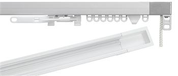 Silent Gliss 3870 Corded Curtain Track with Recess, Silver