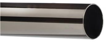 Speedy 28mm Curtain Pole Only, Polished Graphite