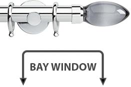 Neo Premium 28mm Bay Window Pole Chrome Smoke Grey Teardrop