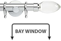 Neo Premium 28mm Bay Window Pole Chrome Clear Teardrop