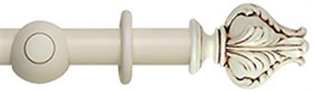 Museum 35mm, 45mm Antique White Curtain Pole, Vienna Finial