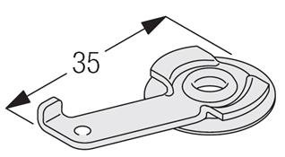 Silent Gliss 3825 Clamp Bracket �,5200,5400)
