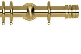 Neo 28mm Curtain Pole Spun Brass Cup Stud